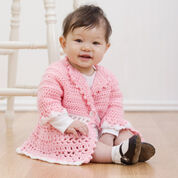 Red Heart Crochet Victorian Jacket, 6 mos