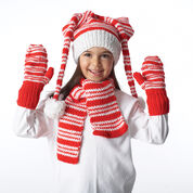 Go to Product: Bernat Striped Hat, Mittens and Scarf, Blue Set - 2-4 yrs in color