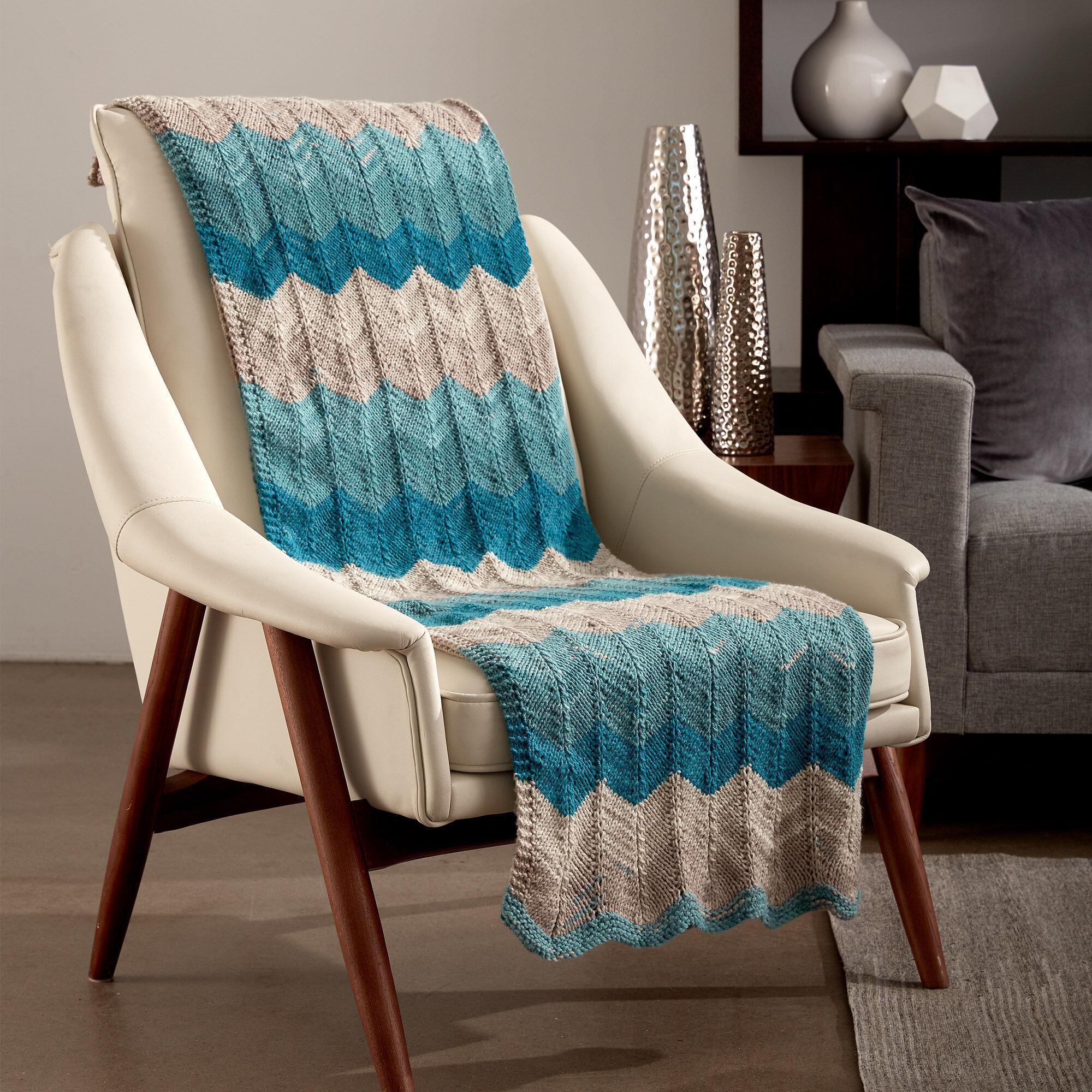 Caron Catch Some Waves Knit Blanket Pattern | Yarnspirations