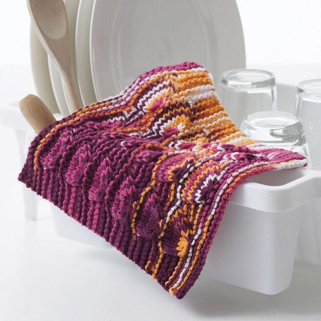 Bernat Peace & Love Knit Dishcloth