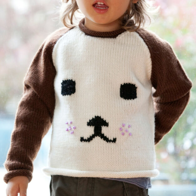 Red Heart Dog-Eared Sweater, 2 yrs