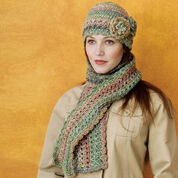 Go to Product: Red Heart Crocheted Cloche & Scarf Set in color