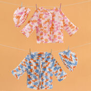 Red Heart Twin Sweater Set, Newborn