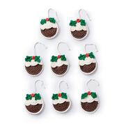 Lily Sugar'n Cream Plum Pudding Crochet Ornaments