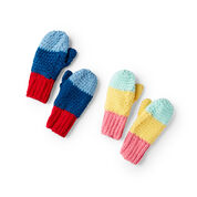 Go to Product: Red Heart Snowday Crochet Mittens, Girl - 2/4 yrs in color