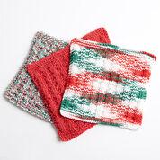 Bernat Holly Jolly Knit Dishcloth, Version 1