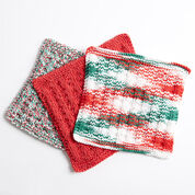 Bernat Holly Jolly Knit Dishcloth, Version 1