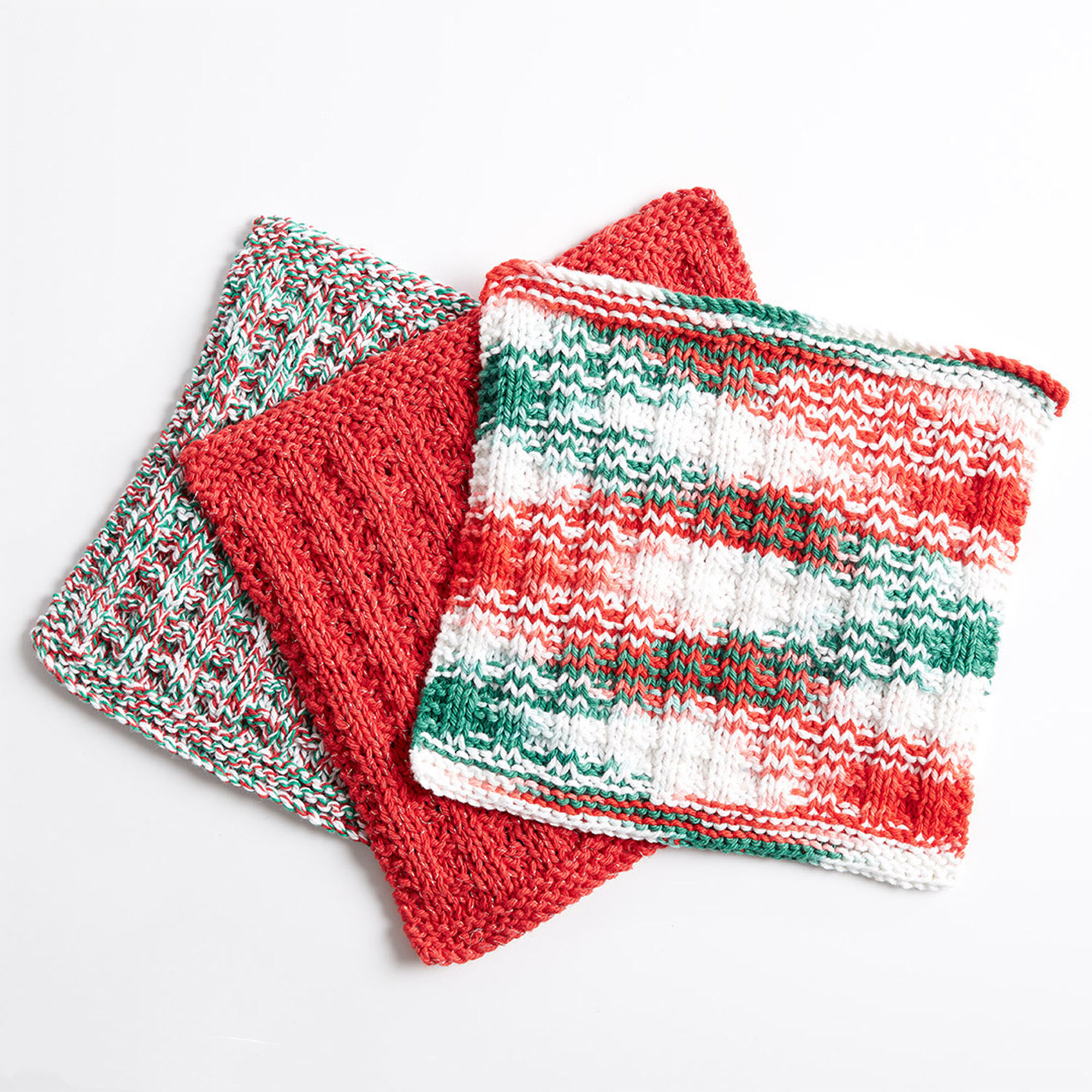 Bernat Holly Jolly Knit Dishcloth, Version 1 | Yarnspirations