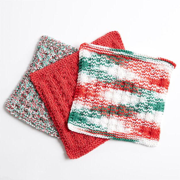 Bernat Holly Jolly Knit Dishcloth Version 1 Yarnspirations