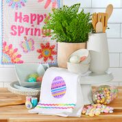Coats & Clark Easter Egg Dish Towel