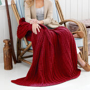 Red Heart Cabled and Shell Throw