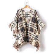 Patons Plaid Blanket Crochet Poncho