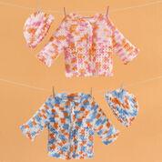 Red Heart Twin Sweater Set, Newborn