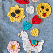 Aunt Lydia's Yummy Happy Face Emoji Applique