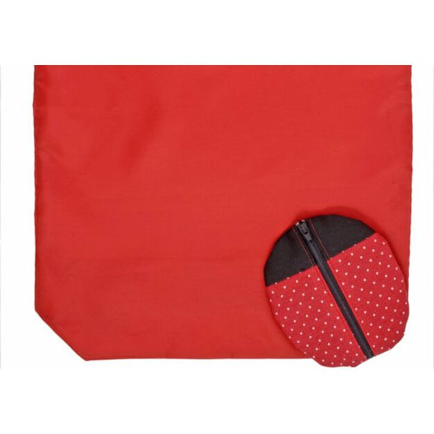 Dual Duty Lady Bug Shopping Bag Caddy in color