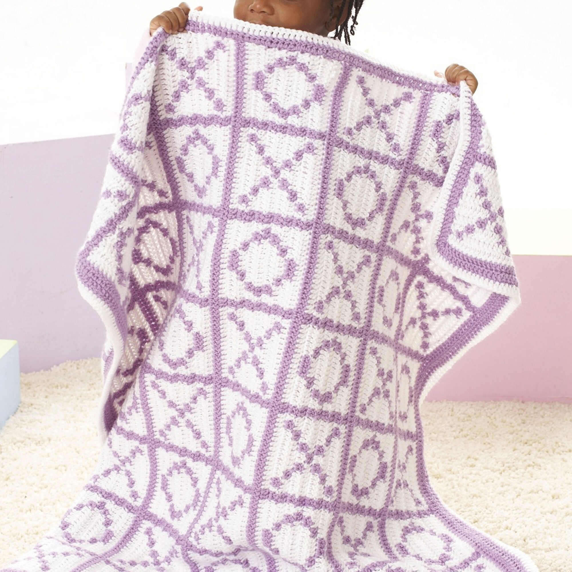 Caron Hugs And Kisses Blanket Yarnspirations