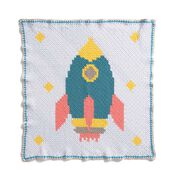 Go to Product: Bernat Rocketship Crochet Baby Blanket in color