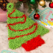 Red Heart Christmas Tree Scrubby