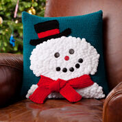 Red Heart Snowman Pillow