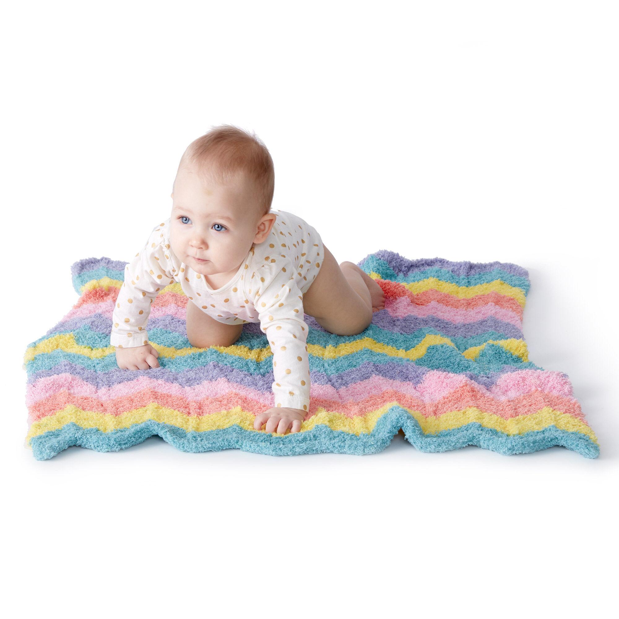 Bernat New Wave Knit Baby Blanket Pattern | Yarnspirations ...
