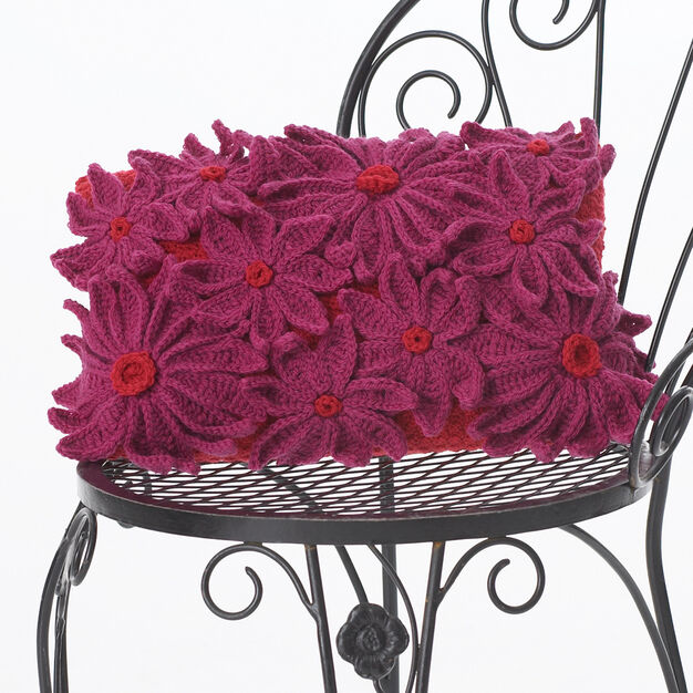 Patons Petal Pillow in color