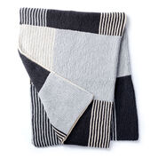 Caron Essential Stripes Knit Blanket