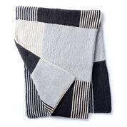 Caron Essential Stripes Knit Blanket