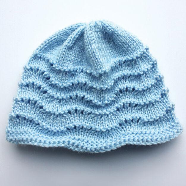 Bernat Knit Baby Hat Pink Preemie Yarnspirations