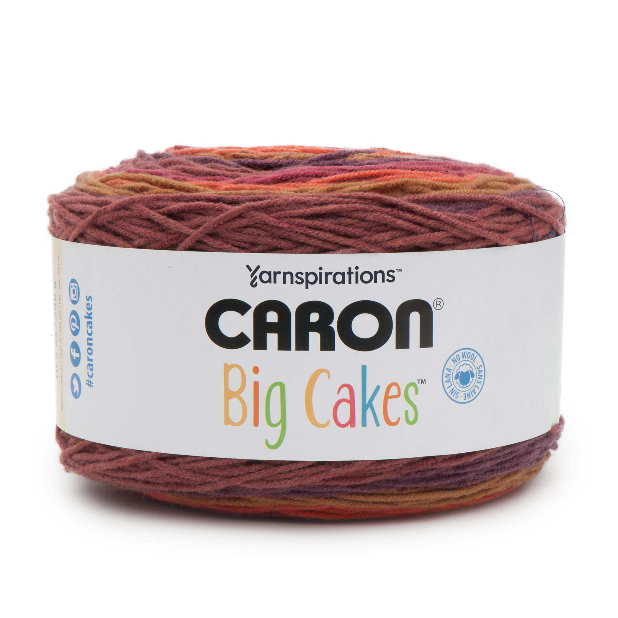 Caron Big Cakes Yarn Cranberry Crisp Yarnspirations