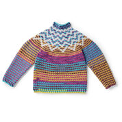 Go to Product: Bernat Crochet Zig-Zag Sweater, XS/S in color