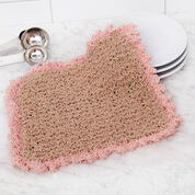 Red Heart Picot Edge Knit Washcloth