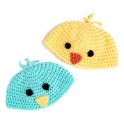 """Go to Product: Red Heart Baby Chick Hats, 16"""" in color"""