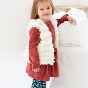 Red Heart Child's Trendy Fur Vest, 2 yrs