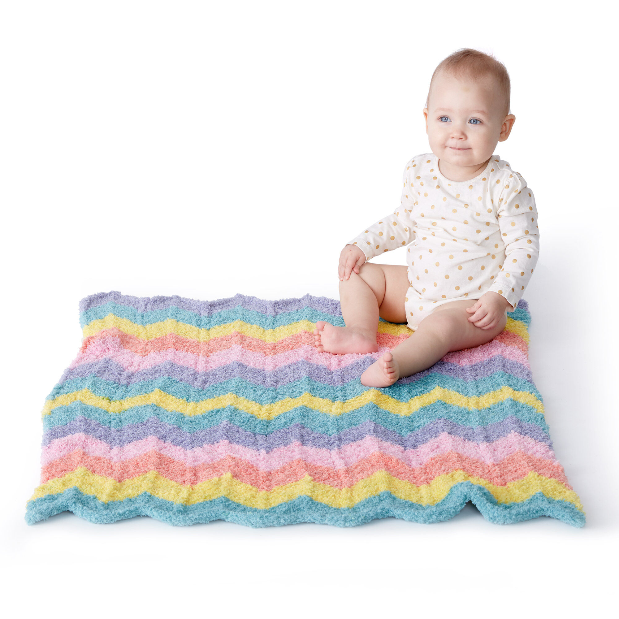 Bernat New Wave Knit Baby Blanket Pattern | Yarnspirations ...