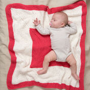 Red Heart Square on Square Baby Blanket
