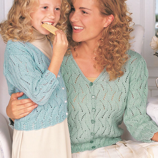 Patons Pretty Lace Cardigan, S in color