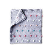 Go to Product: Bernat Crochet Colorful Polka Dots Baby Blanket in color