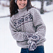 Patons Snowflake Pullover, Long - S