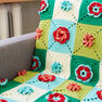 Caron Floral Granny Crochet Afghan, Version 1