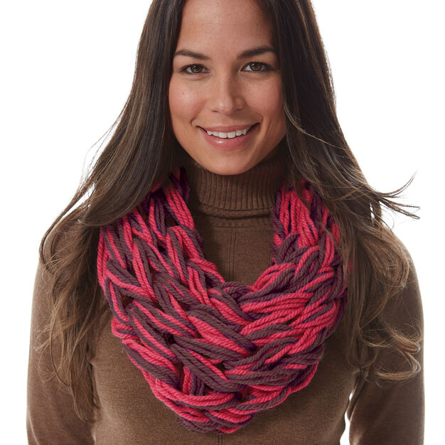 Bernat I-Cord Arm Knit Cowl in color