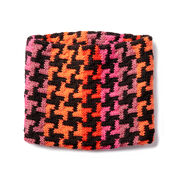 Caron x Pantone Knit Houndstooth Cowl