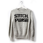 Patons Stitch Please! Knit Sweater, XS/S