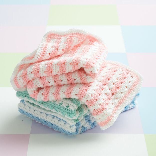 Caron Crochet Stripes Blanket, Version 1