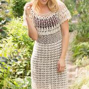 Aunt Lydia's Natural Beauty Crochet Dress, S/M