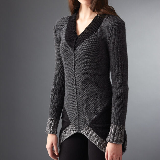 Patons District 12 Sweater, XS/S