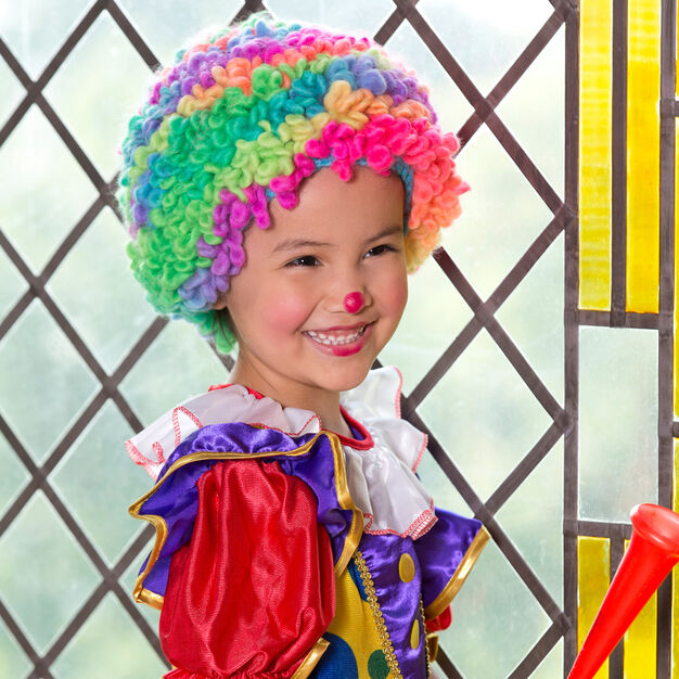 Red Heart Clowning Around Wig, S