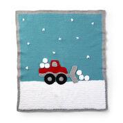 Bernat Crochet Snowplow Blanket