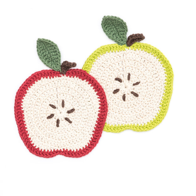 Lily Sugar'n Cream Apple a Day Dishcloth in color  Large Main Image 1