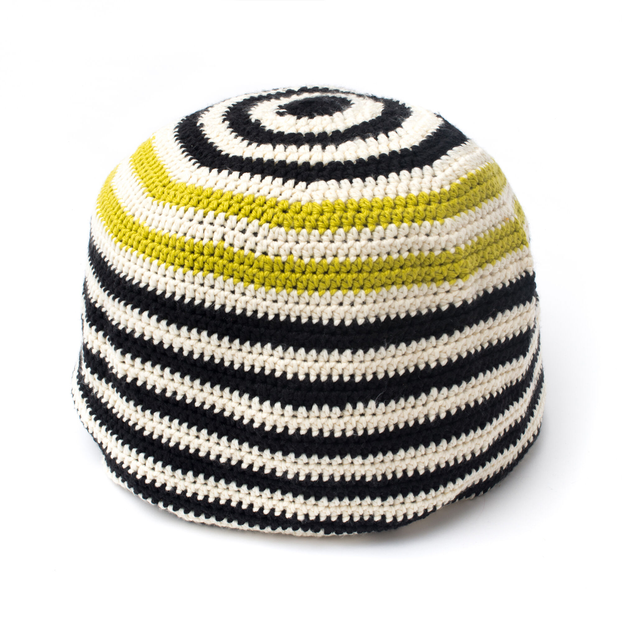 Bernat Graphic Stripes Pouf | Yarnspirations