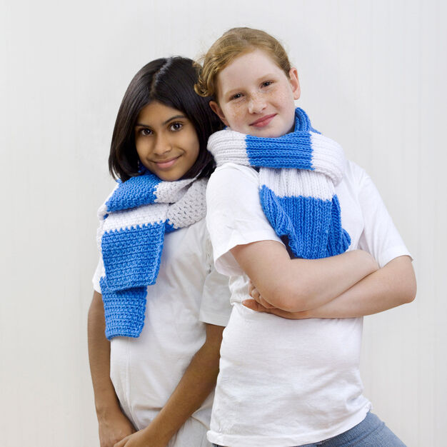Red Heart 2009 Special Olympic Scarves, Crochet in color